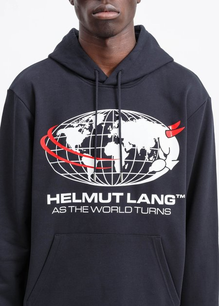 Helmut Lang Worlds Turn Hoodie - Black