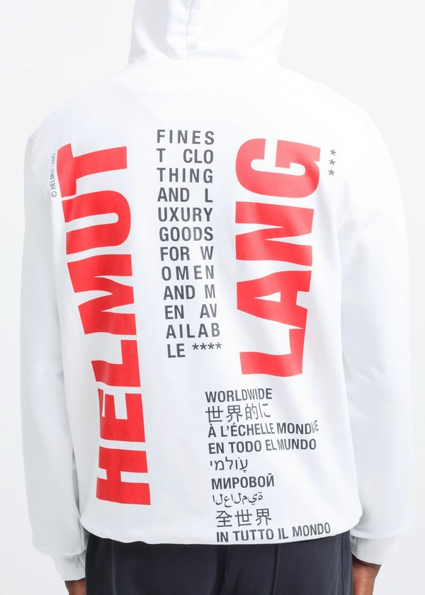 Helmut Lang Worldwide Hoodie - White