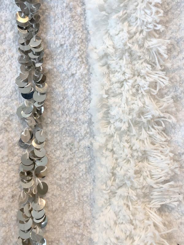 Moroccan Wedding Blanket.Field Of View Moroccan Wedding Blanket 6 5 X 3 10 White