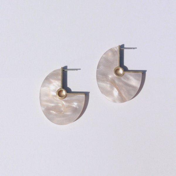 Metalepsis Projects Oval Earrings