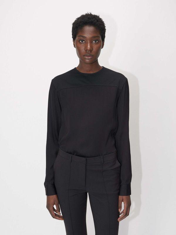 61fe2d654 Tiger of Sweden Remilles Knit Jersey Top - Black on Garmentory