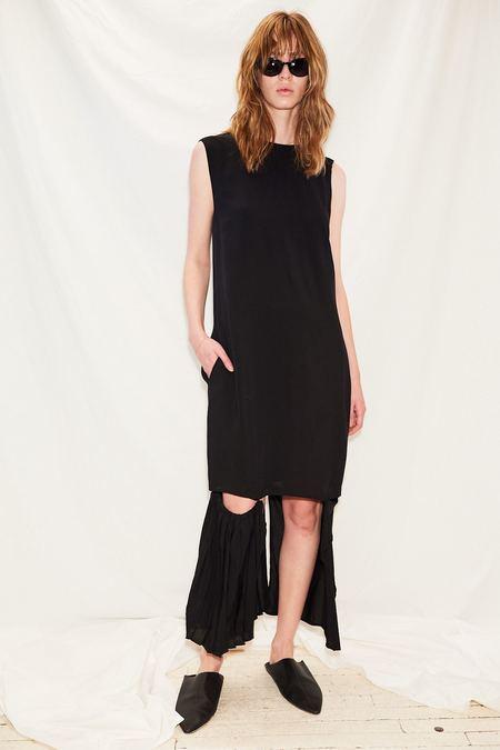Jovana Markovic Deep V Dress - Black