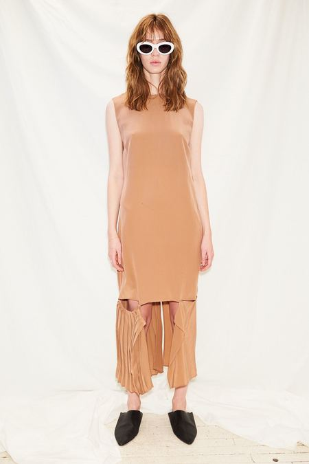 Jovana Markovic Deep V Dress - Dusty Pink