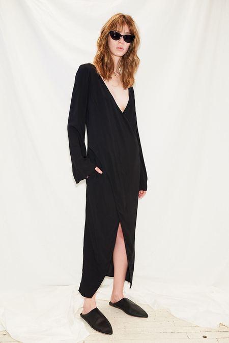 Jovana Markovic Long Sleeve Cross Body Dress - black