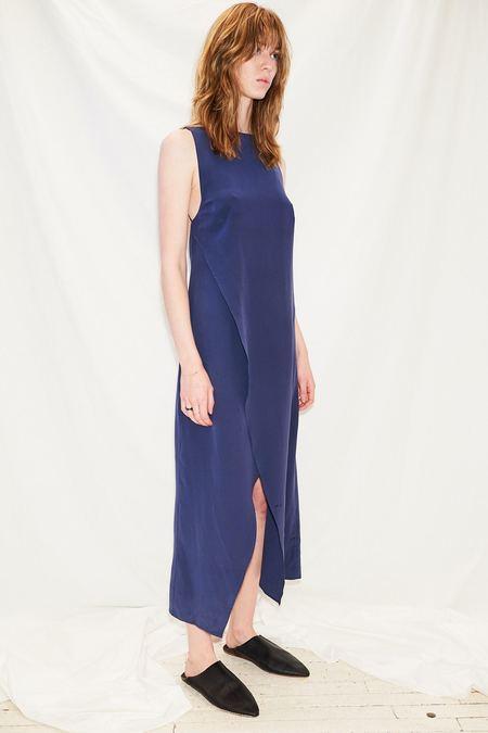 Jovana Markovic Silk Open Back Dress