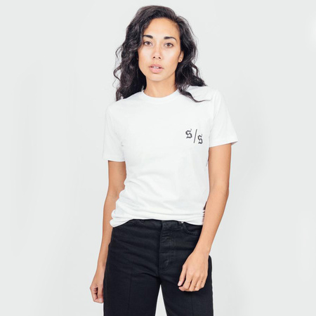 unisex Hella Good Lendon Gray Tee - white