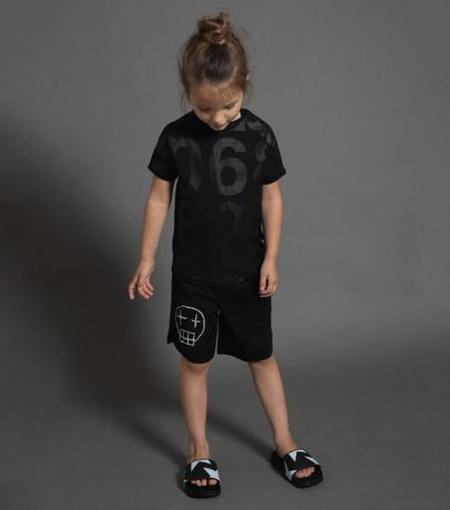 KIDS Nununu Sketch Skull Surf Shorts - BLACK