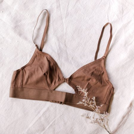 The Nude Label Cut Out Bra - Chocolate