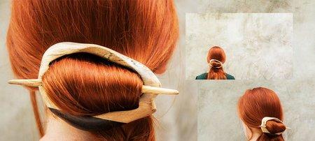 SAYA Moonflower hair slide