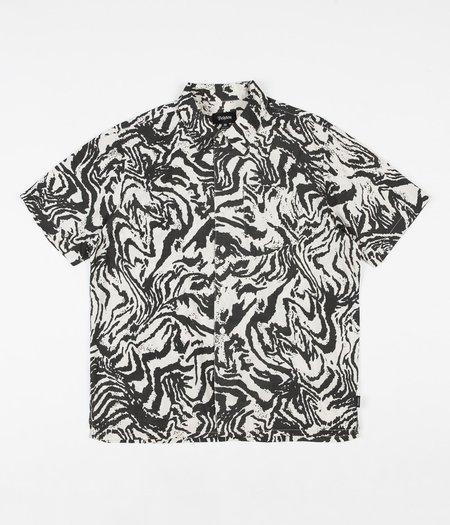 Brixton Lovitz S/S Shirt - Washed Black/Bone