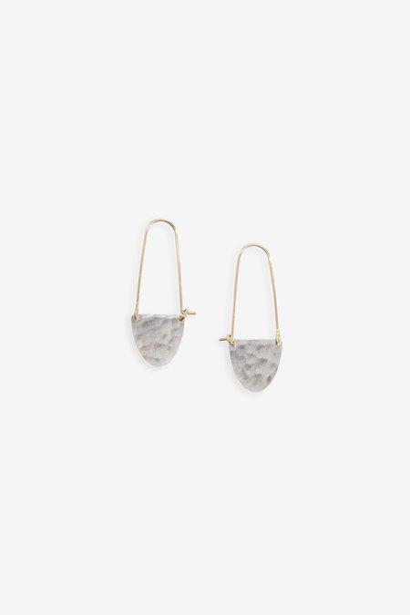 Fail Jewelry New Half Moon Hoop Earrings - Silver