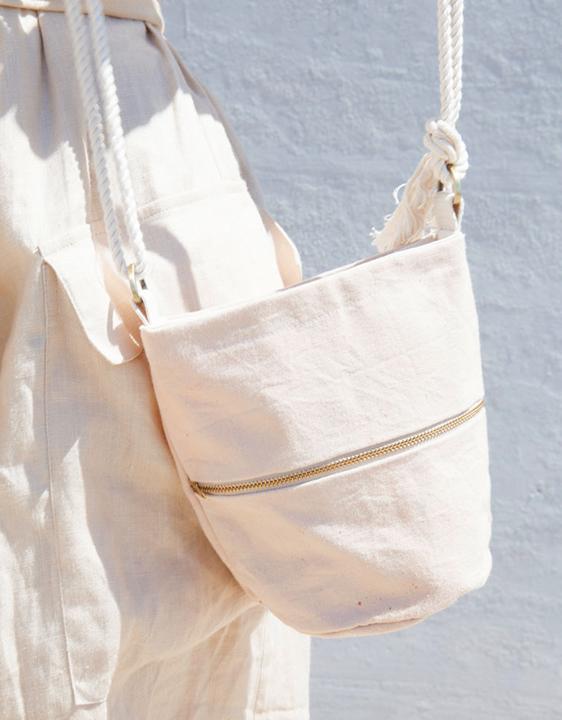 Lotfi Pink Mini Bucket Bag