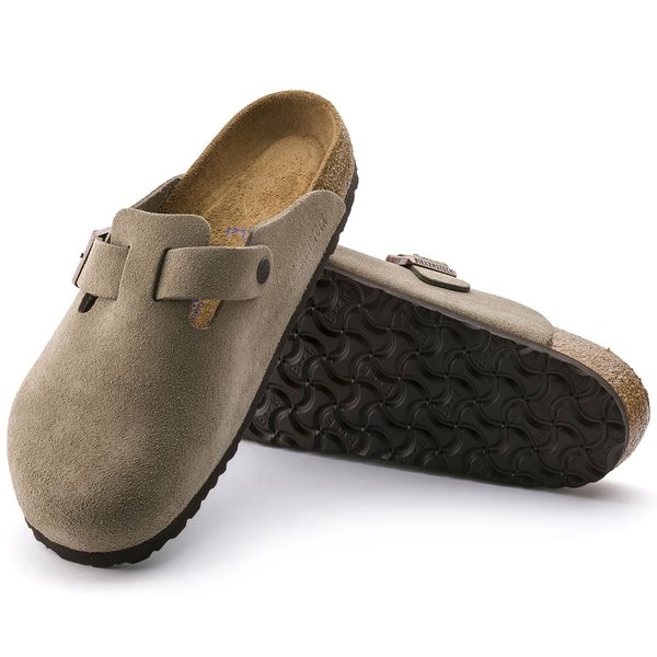 UNISEX Birkenstock Boston Suede Leather Clog - Taupe
