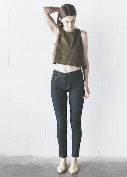 Current Elliot - High Waist Ankle Skinny in Rinse