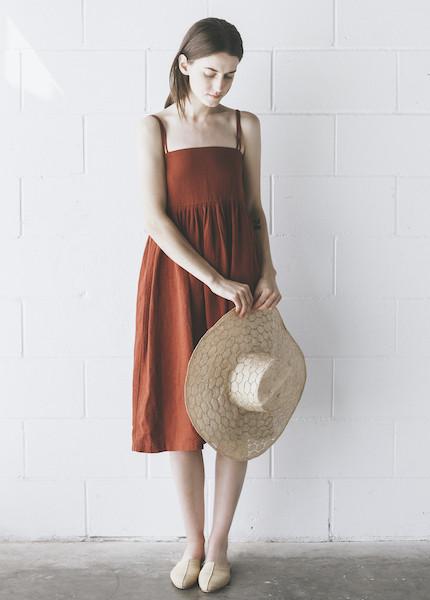 First Rite - Sun Dress in Rust