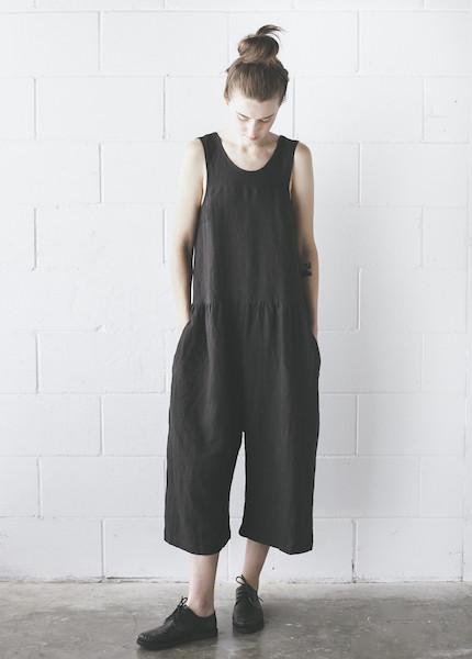 Ilana Kohn - Samet Jumpsuit in Faded Black
