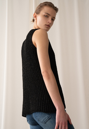 AMONG SEOUL Tape Knit Vest