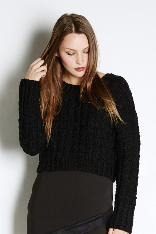 J.O.A. Chunky Cropped Sweater