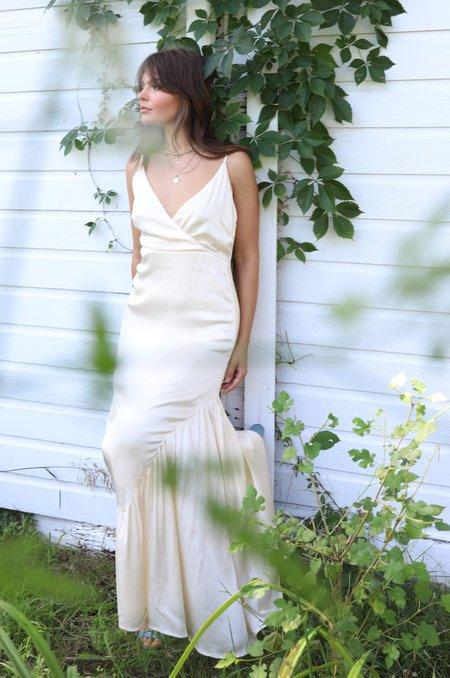 Line & Dot Elle Asymmetrical Dress - Ivory