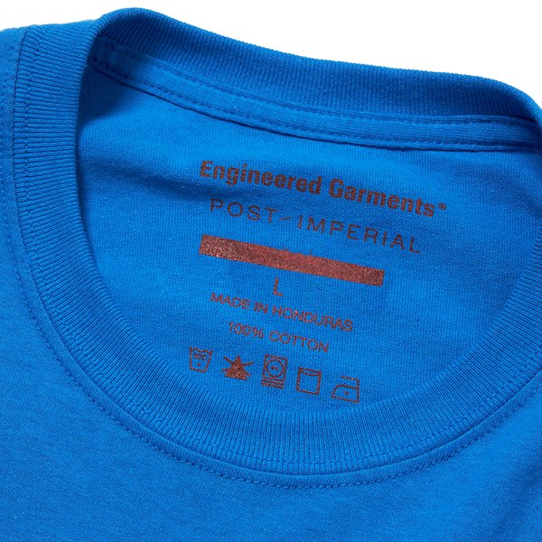 Post-Imperial X Engineered Garments Galactic Pocket Tee - Blue