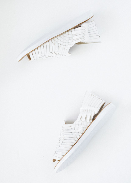 Chamula - Chichen Weave Sandal in White