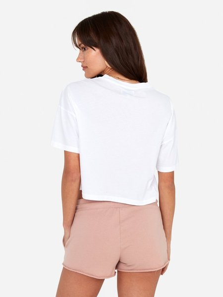 Mate the Label Boxy Crop - White