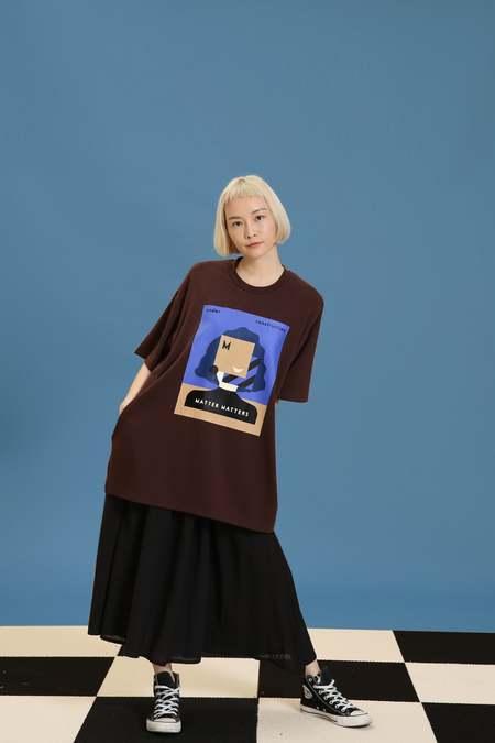 Matter Matters oversized T shirt dress - Brown