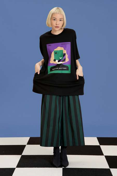 Matter Matters oversized T shirt dress - Black