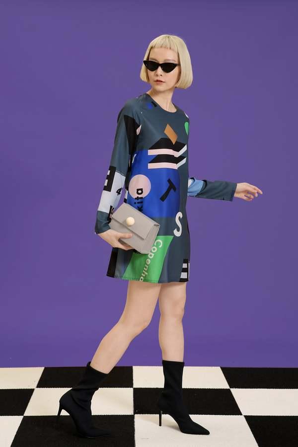 MATTER MATTERS mini dress - Mokita Grey