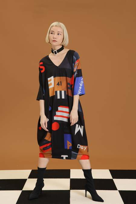 MATTER MATTERS Midi Summer Dress - Mokita Black