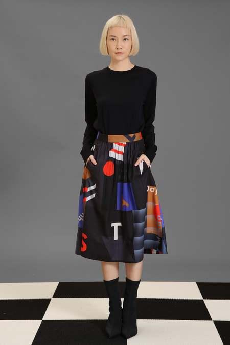 Matter Matters Midi Skirt - Mokita Black