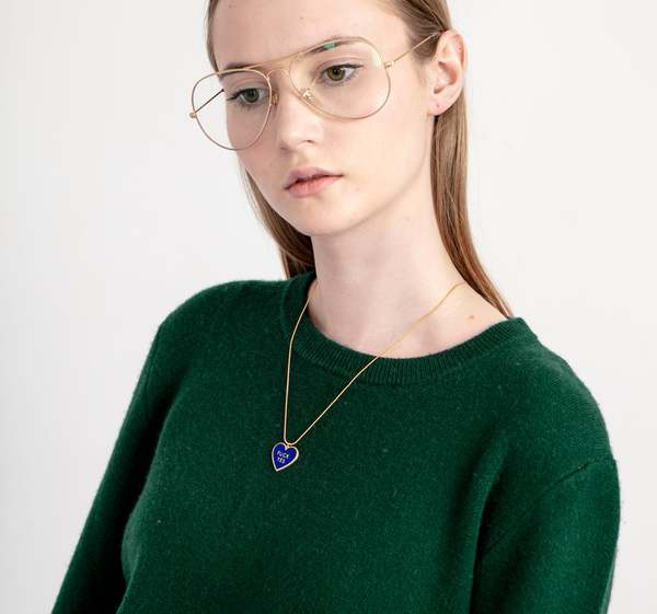 MATTER MATTERS Fuck Yes Reversible Necklace - Navy