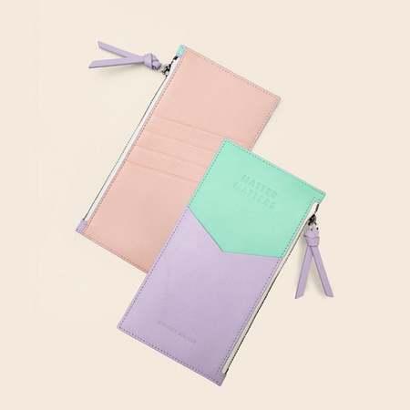 Matter Matters Mini Zipped Pouch - Lilac/Mint