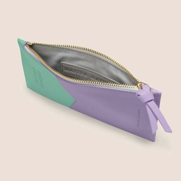 Matter Matters Mini Zipped Pouch - Lilac/Mint