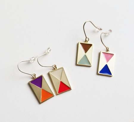 Matter Matters Color Block Earrings w/ French Hook