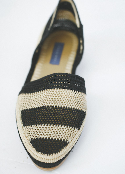 Proud Mary - Striped Crochet D'orsay