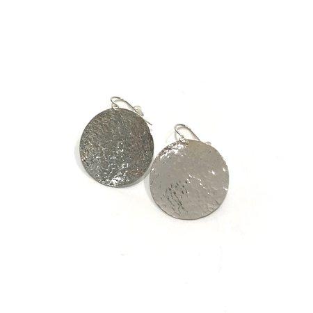 Jessie Phoenix Disc Earrings Medium - Sterling Silver