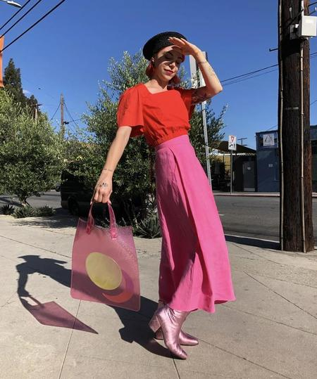 CAB Collection Moon Tote - Pink Glitter