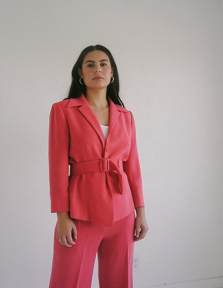Leigh Collective Belted Hot Suit - hot pink