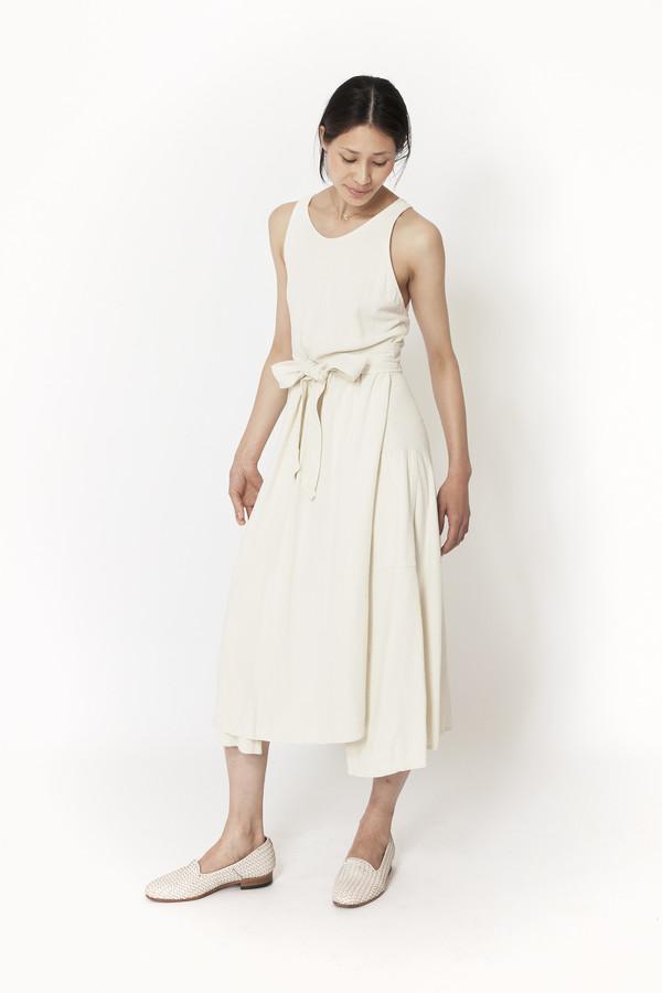 ec2d8ba19c27 Black Crane Wrap Dress (Cream) | Garmentory
