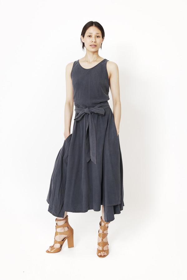 6bf782b257c6 Black Crane Wrap Dress (Midnight) | Garmentory