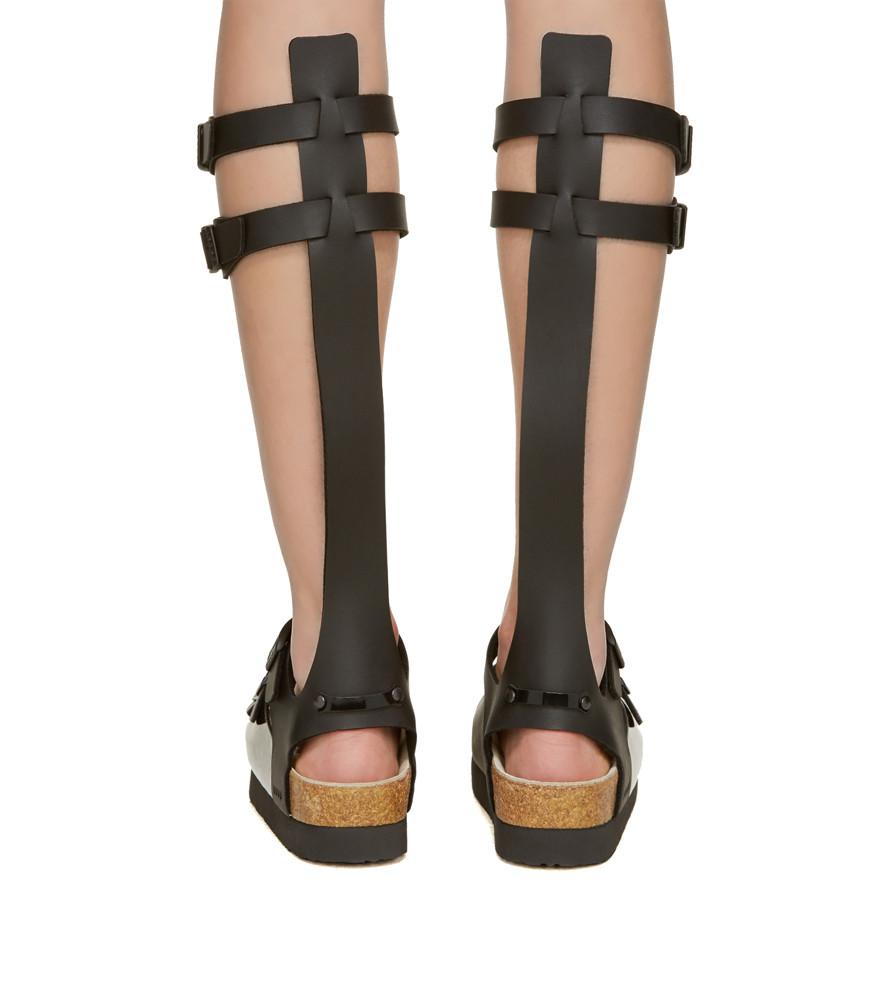 Sacai Leather Multi Strap Gladiator Sandals Garmentory