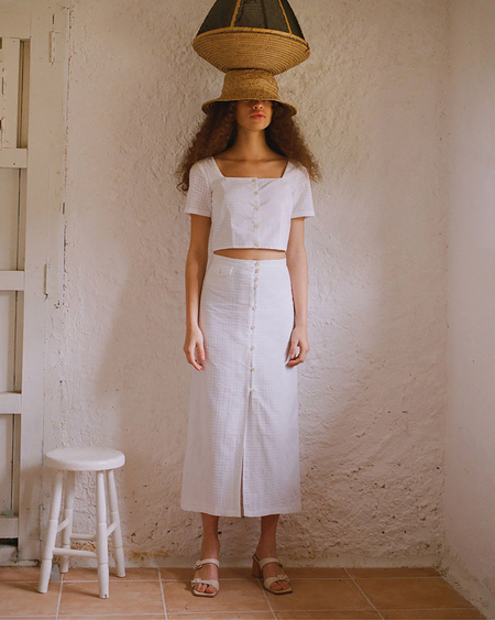 PALOMA WOOL lalonde skirt - white