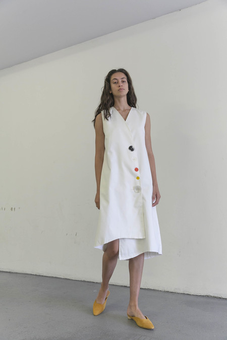 DELFINA BALDA SYSTEM DRESS - OFF WHITE