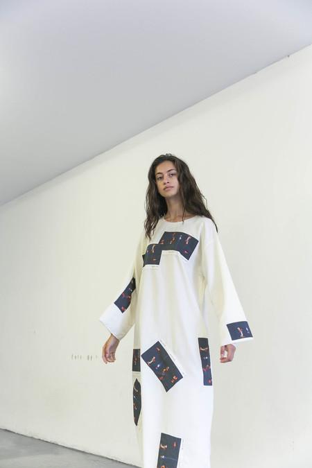 DELFINA BALDA ETCETERA DRESS - PEARL