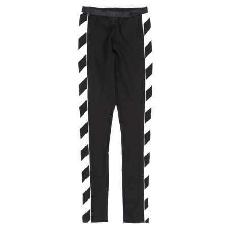 Off-White Diagonal Athletic Leggings - Black/White