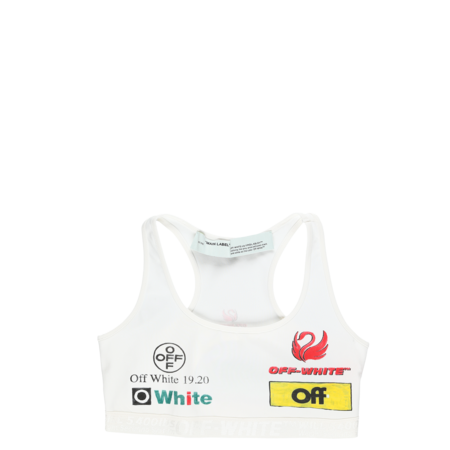 Off-White Multi-Logo Sporty Bra - white