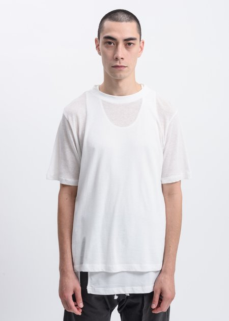 Faineant Double Layer Tank Top T-Shirt - White