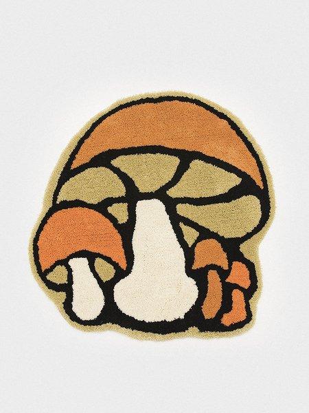 GENERAL ADMISSION Mushroom Rug - Orange