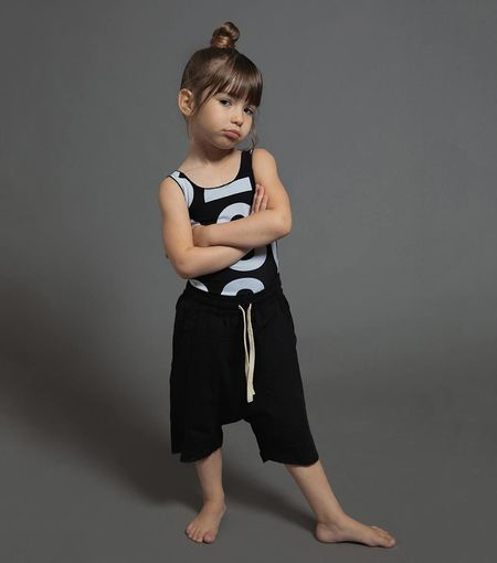 Kids Nununu Numbered Swimsuit - Black